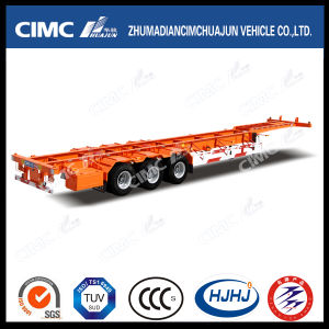 53FT 3axle High Tensile Steel Skeleton Container Semi-Trailer with Gooseneck pictures & photos