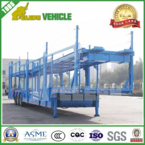 Two Single Wheel Axles Hydraulic Cylinder Car Carrier Trailer pictures & photos