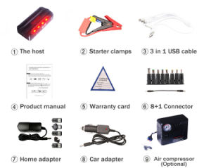 OEM Portable Car Jump Starter Mini Jump Starter Mul-Tifunction Power Bank pictures & photos