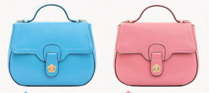 Spring Summer Latest Wax Paper Genuine Leather Shoulder Little Bag Lady′s Handbag pictures & photos