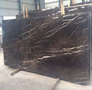 Dark Emperador Marble Slab for Floor, Polished Marble Slab, pictures & photos