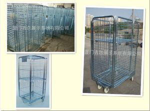 Wire Steel Logistic Container with 4 Weels (GDS-RC01) pictures & photos