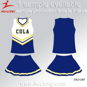 Healong Fashinon Design Sporstswear Sublimation Printing Cheerleading Uniform pictures & photos