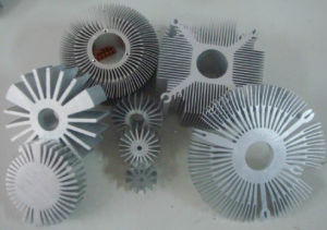 Silver Industrial Aluminium Profile for Heat Sink