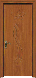 Coated Wood PVC Door (WX-PW-105) pictures & photos
