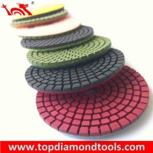 "4""Diamond Wet Flexible Polishing Pad pictures & photos"