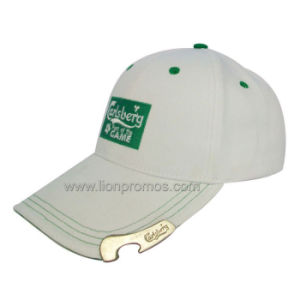 Beer Logo Embroidery Promotional Gift Cotton Baseball Cap with Bottle Opener pictures & photos