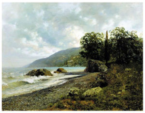 Famous Artists Oil Painting, Masterpiece Oil Painting, Landscape in Crimea (1887years) -Isaak Iliich Levitan pictures & photos