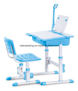 Plastic Children Kids Kindergarten Preschool Study Desk and Chair (7702) pictures & photos