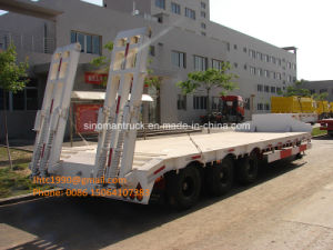 Three Axle, Two Axle Goose Neck Low Bed Semi Trailer, Truck Trailer for HOWO Trucks