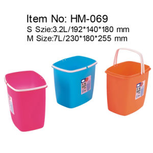 Plastic Office Rectangle-Shaped Wastepaper Basket (HM-069)