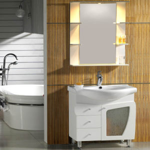 Ceramic Table/ Aluminum Cabinet/ Ceramic Plate Simple Style Bathroom Cabinet with Legs pictures & photos