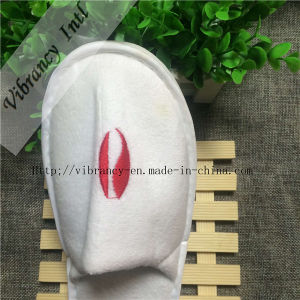Good Quality Hotel Velvet Close EVA Slippers pictures & photos