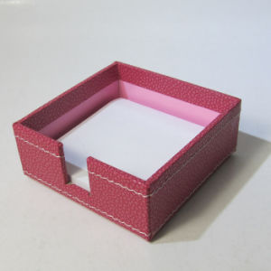 Quality Leather Memo Pad Holder Box pictures & photos