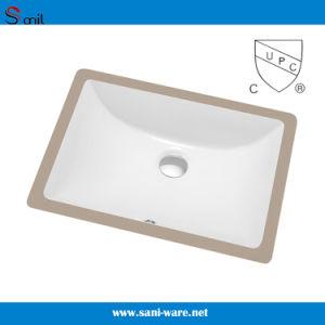 Cupc Certificate Rectangular Ceramic Bathroom Sink (SN018) pictures & photos