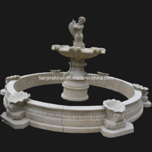 Fountain, Antique Marble Carving Fish Angel Fountain (HAT002) pictures & photos