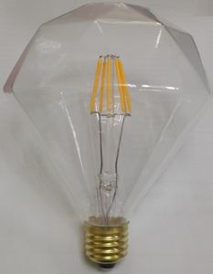 Diamond Bulb E27/B22 Baes Clear Glass Warm White Bulb