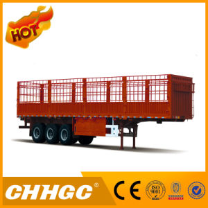 Chhgc 3 Axle Flat-Type Cargo Stake Semi Trailer with Short Lock pictures & photos