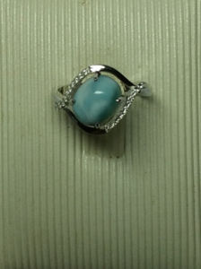 Natural Larimar Sterling Silver Fashion Jewelry in Ring (R0303) pictures & photos