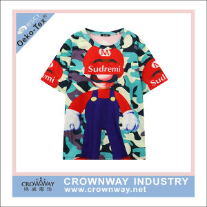 100% Polyester Fashion Sublimation Printing Sport T Shirt pictures & photos