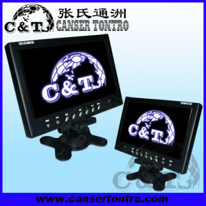 Car Headrest Stand Alone Dash Board Digital LED Monitor 2 Way Video Inputs, Auto Reverse (SA9A)