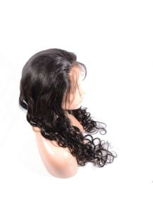 Human Hair Loose Wave Full Lace Wig Can Put Pony Tail pictures & photos