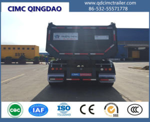Cimc 2/3 Axles Self Dumping Tipping Trailer Truck Chassis pictures & photos