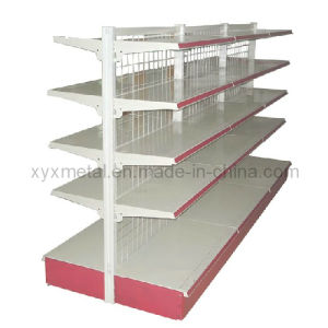 Wire Mesh Back Medium Duty Steel Supermarket Gondola Shelving Rack pictures & photos