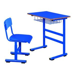 High Quality MDF Student Desk Chair with Basket (SF-59F) School Classroom Furniture pictures & photos