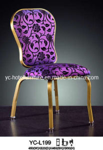 High Class Puple Pattern Fabric Hotel Chair (YC-C88) pictures & photos