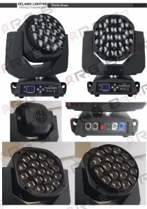 High Power 19X15W Hawkeye Indoor Stage LED Moving Head Light pictures & photos