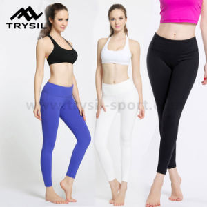 Ladies Sport Wear Bodybuilding Leggings Fitness Long Pants Gym Slim Wear High Elastic Compression Running Clothes