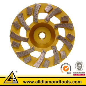 Tornado Diamond Grinding Cup Wheel for Concrete pictures & photos