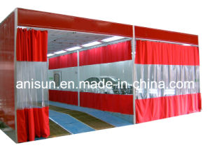 Curtain Type Prep-Station Booth/Room for Car Sanding