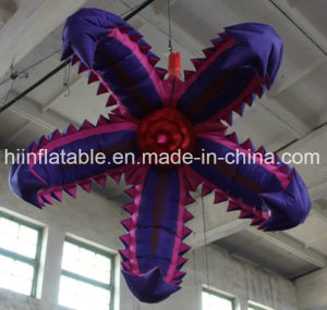 Popular Large Inflatable Flower Decorative Chain for Hanging Lamp