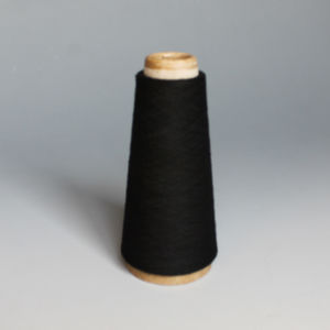 Polyester Spun Yarn-Black pictures & photos