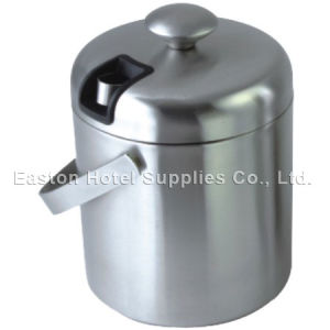 Hotel Brushed Stainless Steel Ice Bucket with Ice Tong pictures & photos