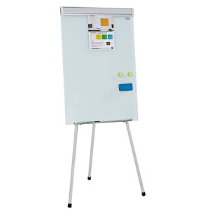 Light Magnetci Tenpered Glass Flip Chart Easel pictures & photos