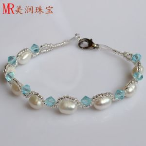 100% Genuine Freshwater Pearl Bracelet Jewelry for Christmas Gift pictures & photos