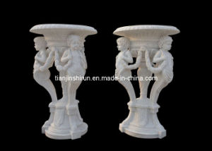 Marble Angel Flower Pot (21012) pictures & photos