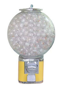 Gumball vending machine with large globe