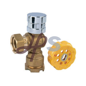 Brass Angle Type Lockable Ball Valve with Copper Handle pictures & photos
