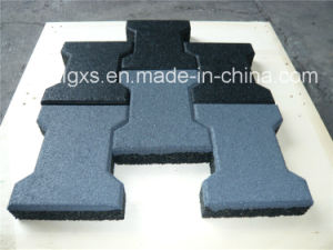 Multipurpose Anti-Slip Dog-Bone Black SBR Rubber Tiles pictures & photos