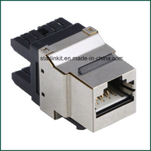 CAT6 Shielded Metal Punch Down Keystone for CAT6 STP Cables pictures & photos