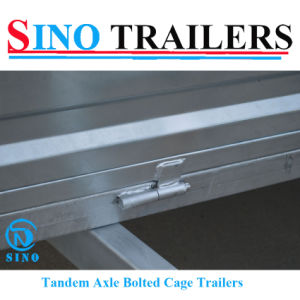 10x6 Galvanised Bolted Tandem Box Cage Trailers pictures & photos