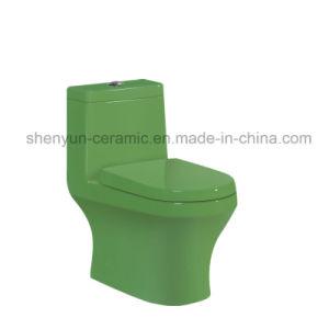 Ceramic Toilet One-Piece Color Toilet S-Trap (A-022) pictures & photos