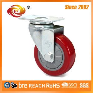 5 Inch Red PU Swivel Medium Duty Caster 5817-77