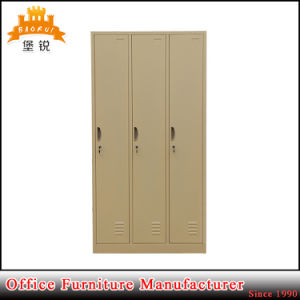 Jas-026 Luoyang High Steel Furniture 3 Door Gym Metal Clothes Locker / Metal Locker pictures & photos