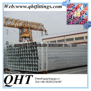 Hot Dipped Galvanized 40X60mm Gi Rectangular Steel Pipes pictures & photos