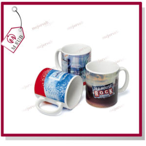 11oz Sublimation Reinforce Porcelain White Mug with Company Logo pictures & photos